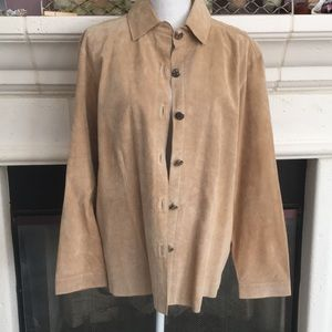Chico's Suede soft jacket cool chic size 2